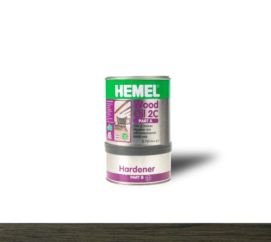 Hemel Wood Oil 2C Black - Renkli Parke & Mobilya Yağı