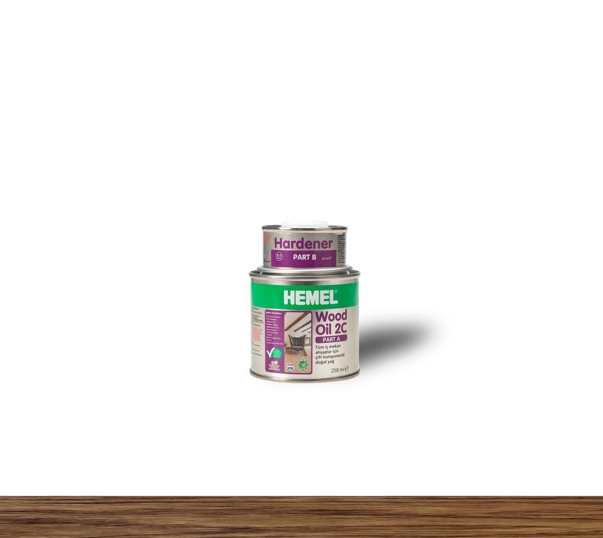 Hemel Wood Oil 2C Dark Oak - Renkli Parke & Mobilya Yağı