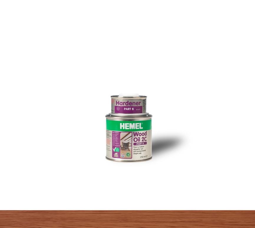 Hemel Wood Oil 2C Mahogany - Renkli Parke & Mobilya Yağı